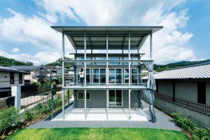 京都の三段屋根