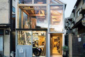 house A / shop B