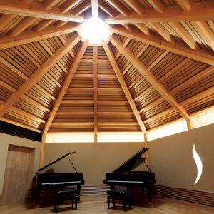 ピアノホールのある家
