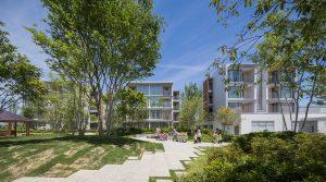 パッシブタウン第2期街区 - 設計: 槇総合計画事務所 設計組織プレイスメディア (ランドスケープ) 施工: 戸田建設