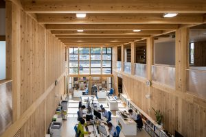 ふたば富岡社屋 - 設計: はりゅうウッドスタジオ 施工: 東北工業建設