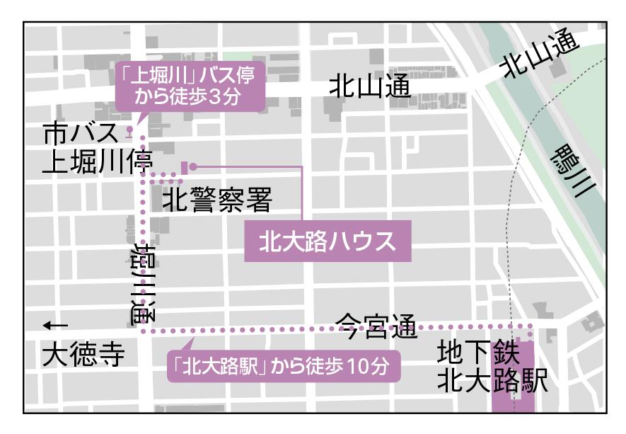 北大路ハウス地図