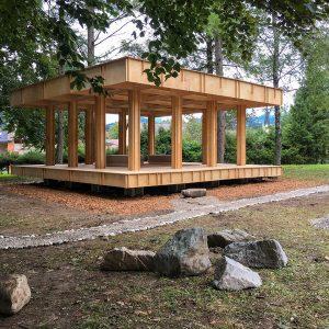 難民・移民のためのコミュニティパビリオン+極小ベニアハウス