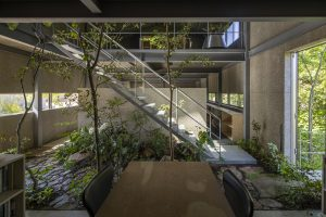 建築と庭の境界の融和/green cave