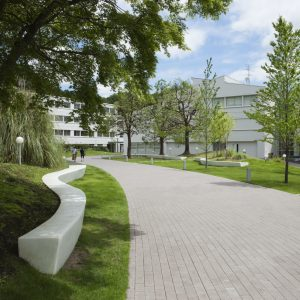 日本女子大学西生田キャンパス中庭改修