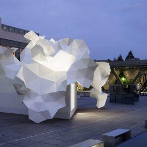 ブルームバーグ・パヴィリオン - 設計: 平田晃久建築設計事務所 施工: 森川設計 + 河野鐵骨工業