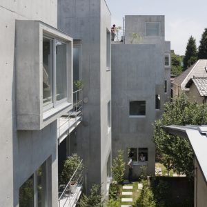 呑川緑道の集合住宅