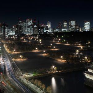 皇居外苑照明等低炭素化整備 - 設計: 日建設計 施工: 中央電気工事