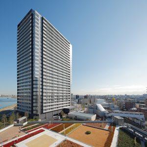 港町駅前タワーマンション - 設計: 大林組一級建築士事務所 施工: 大林組
