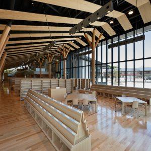 飯能図書館 - 設計: 石本建築事務所 施工: 松井建設
