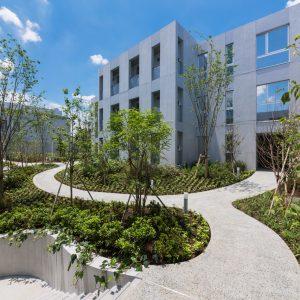 NISHIMAGOME TERRACE COURT - 設計: 長谷川逸子・建築計画工房 施工: 北野建設