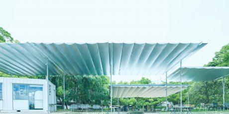 石山公園の屋根