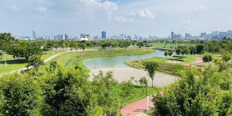 水湳知恵城の中央公園内 (全体図番号⑤)、出典:台中市政府