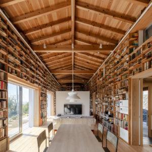 海の見える書庫の家